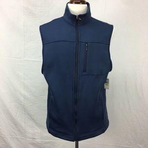 Van Heusen Navy Traveler Full Zip Fleece Vest